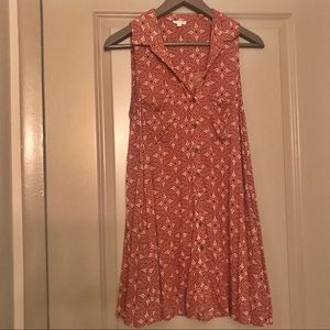 Red & cream button up sundress